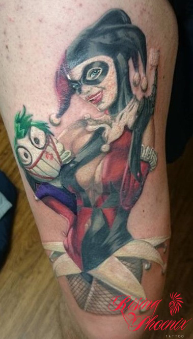 Harley Quinn & The Cartoon Joker