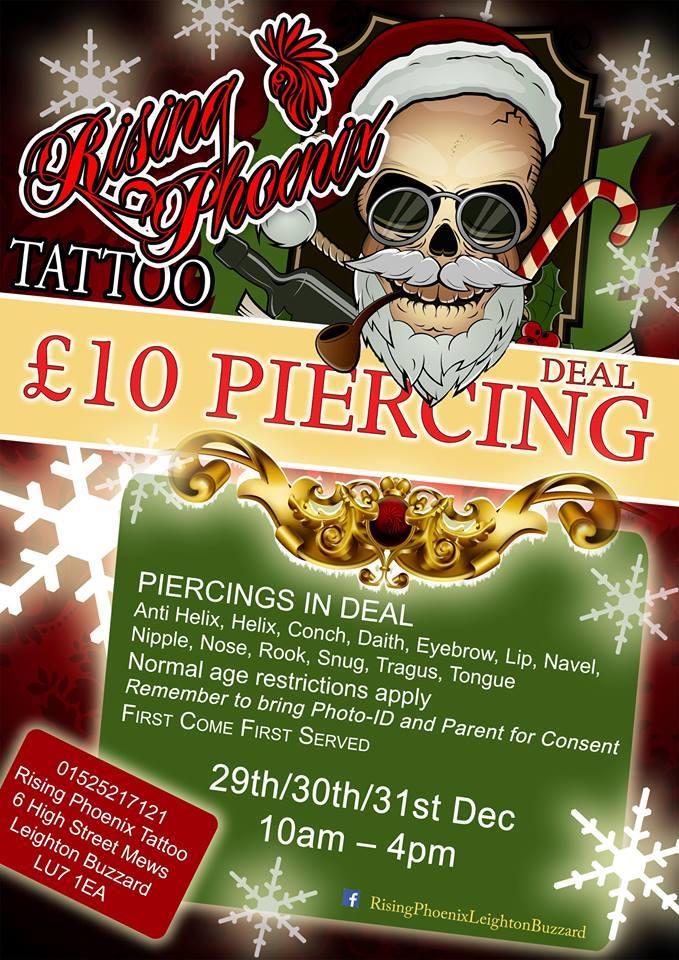 Rising Phoenix £10 Piercing Deal
