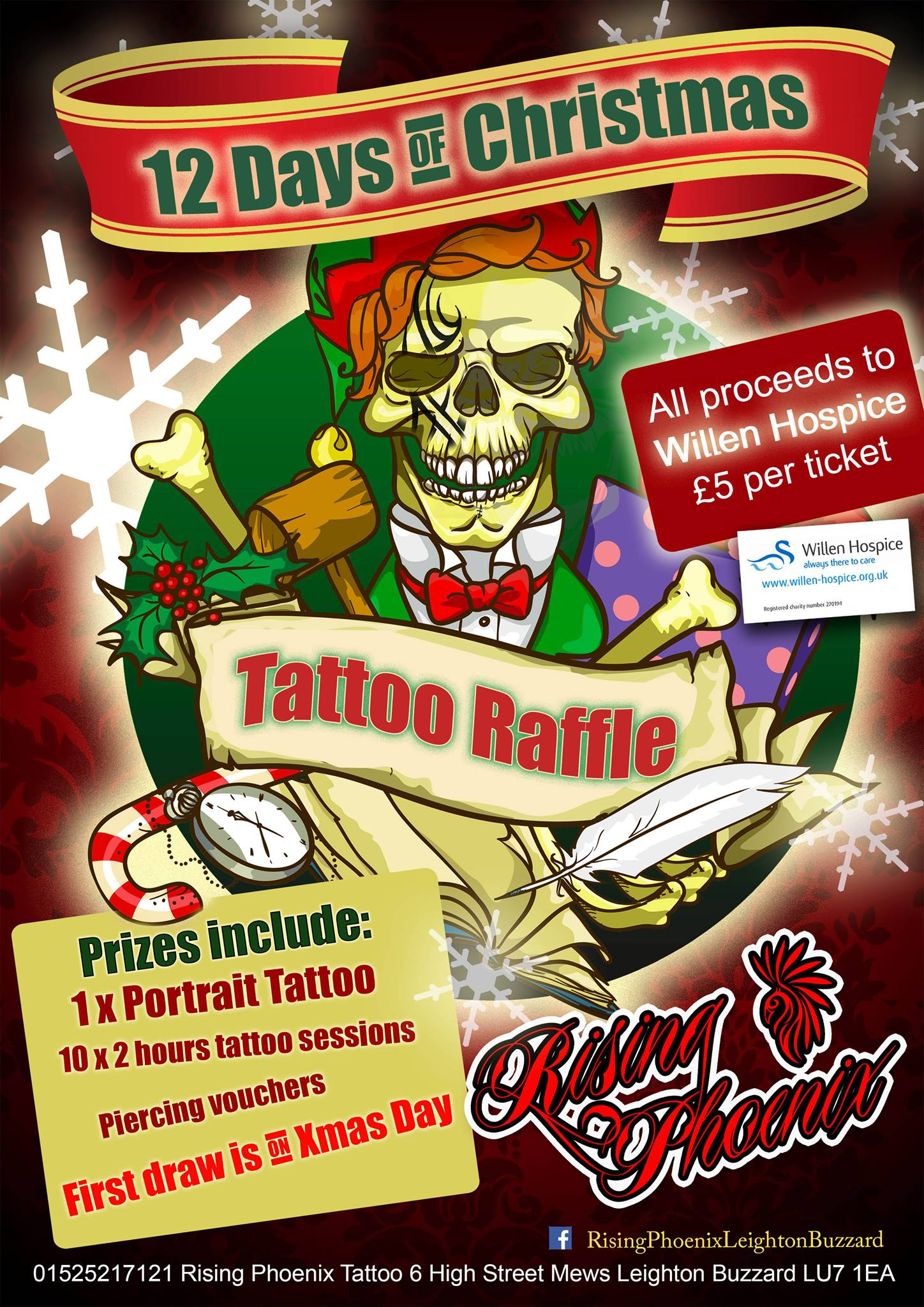 12 Days of Christmas Tattoo Raffle