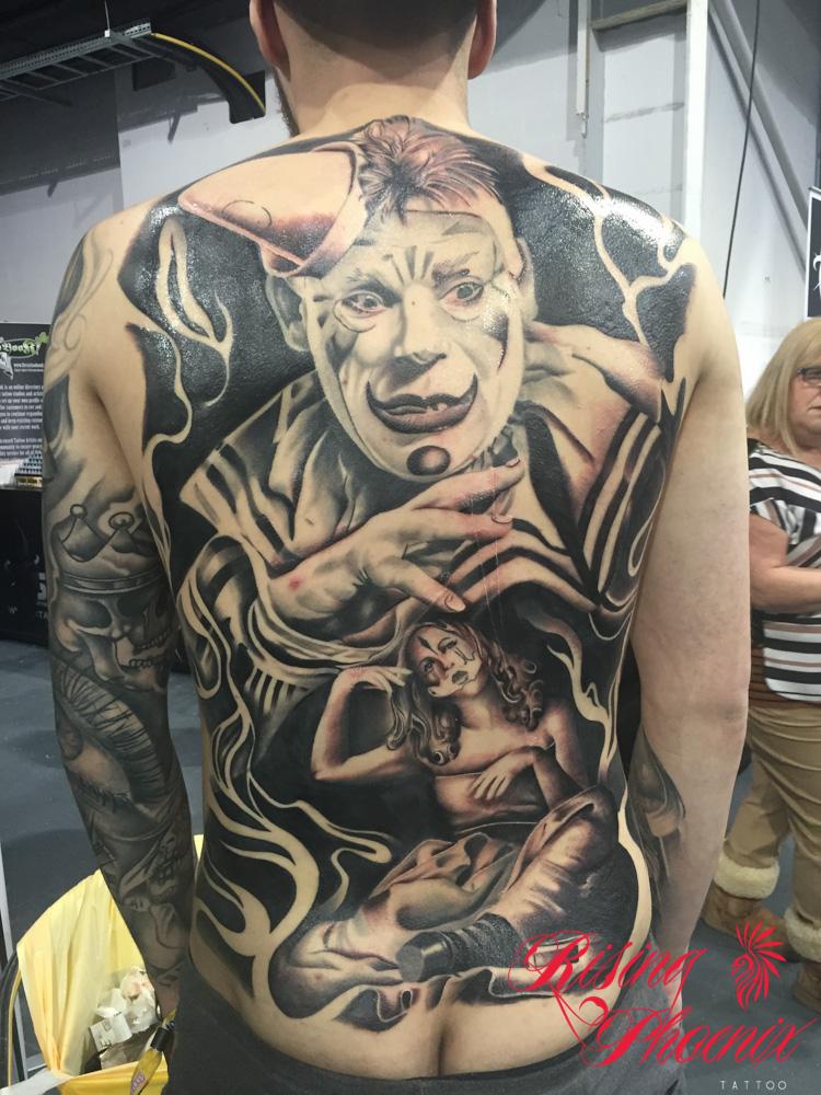 Tattoo Freeze 2016 - PJ's Completed Clown Back Piece