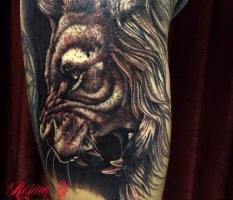 Greyscale Lion