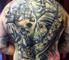 Skull & Filagree Back Piece