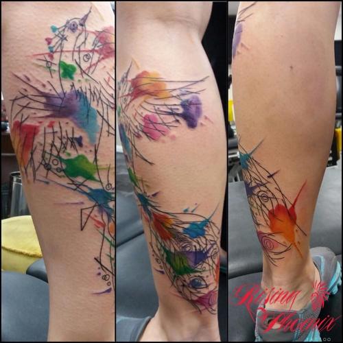 Freehand Watercolour Phoenix