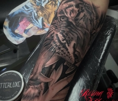 Black & Grey Tiger Sleeve
