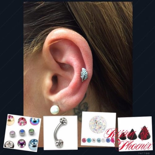 Helix with Feather Jewellery