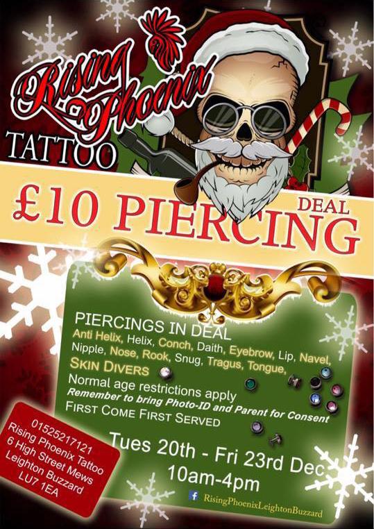 Christmas £10 Piercing Deal