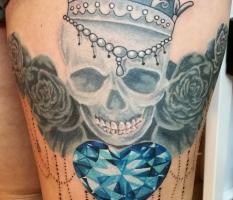 Crowned Skull & Diamond Heart