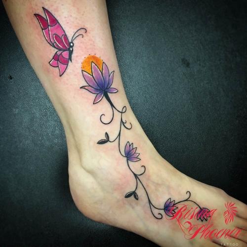 Dainty Flowers & Butterfly