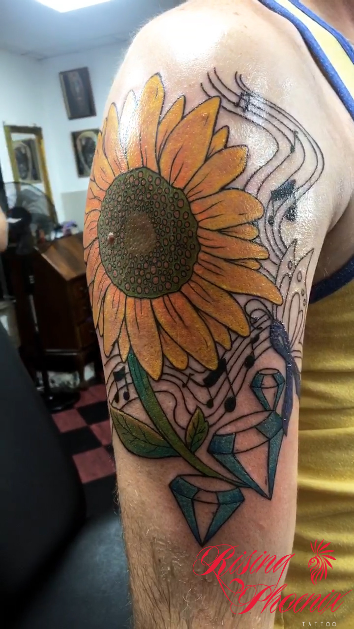 Sunflower & Diamonds