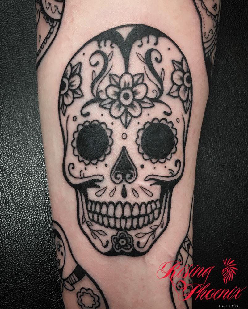 Black & White Candy Skull