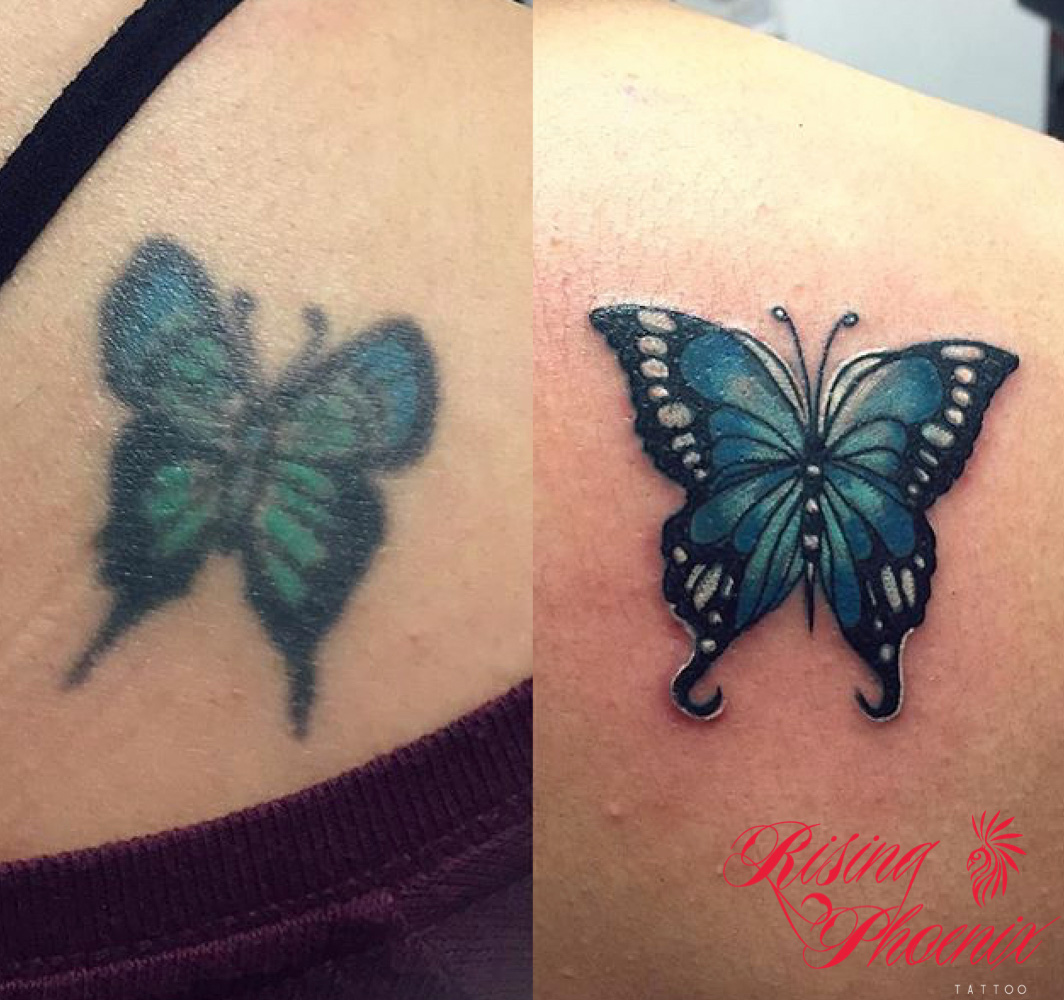 ff46c73bff54b Butterfly Cover-Up - Rising Phoenix Tattoo