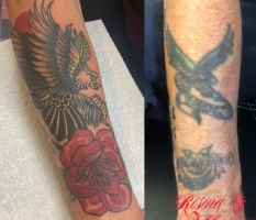 Eagle & Rose Cover-Up