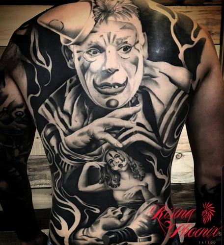 Clown Back Piece
