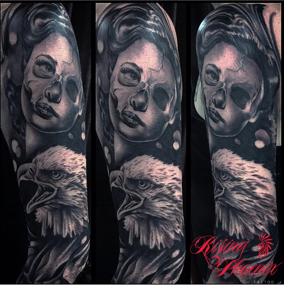Eagle & Skull Face