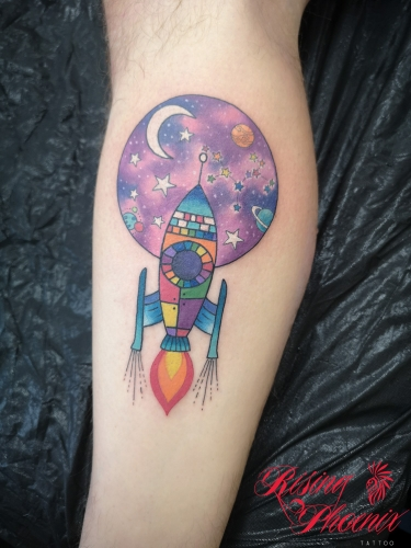 Colourful Rocket Ship