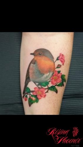 Robin & Flowers
