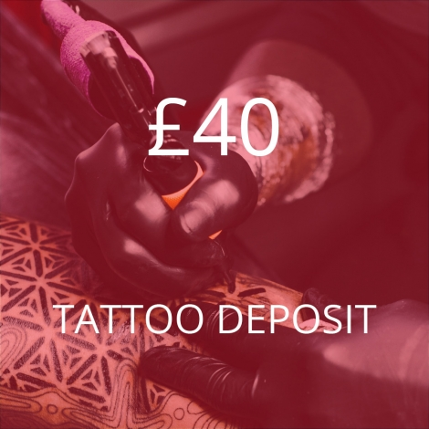 £40 Tattoo Deposit – Mikey Black