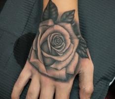 Black & Grey Hand Rose