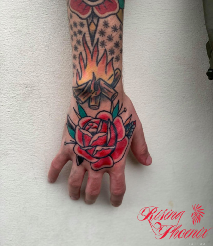 Traditional Hand Rose